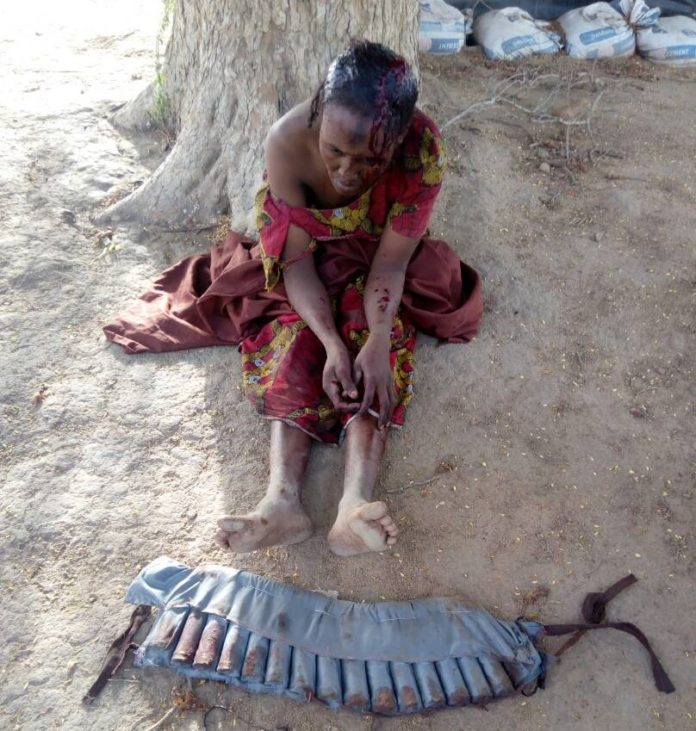Captured Female Suicide Bomber Gujba