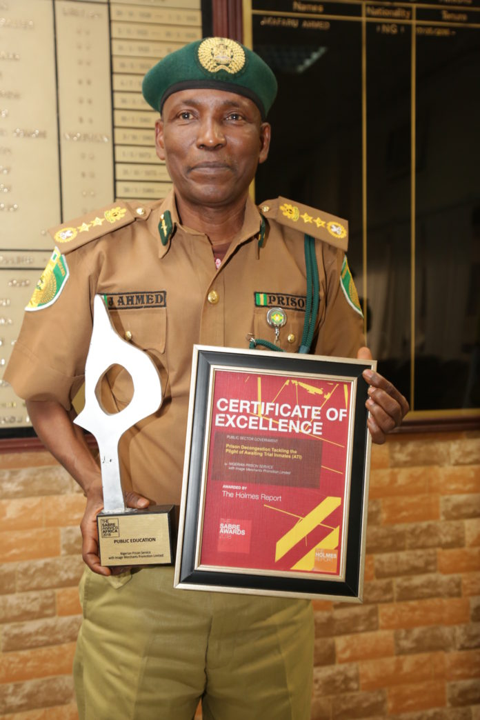 CG NPS Ahmed Jaafaru with SABRE African PR Awards
