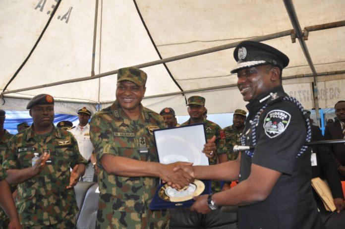 NAF Chief Abubakar Sadique and Police Boss Ibrahim Idris