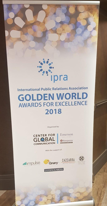 IPRA GWA PR Awards 2018 in Barcelona Spain