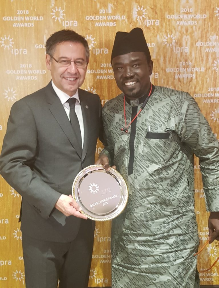 Barca Boss, PRNigeria Chief Bag Global PR Awards in Barcelona