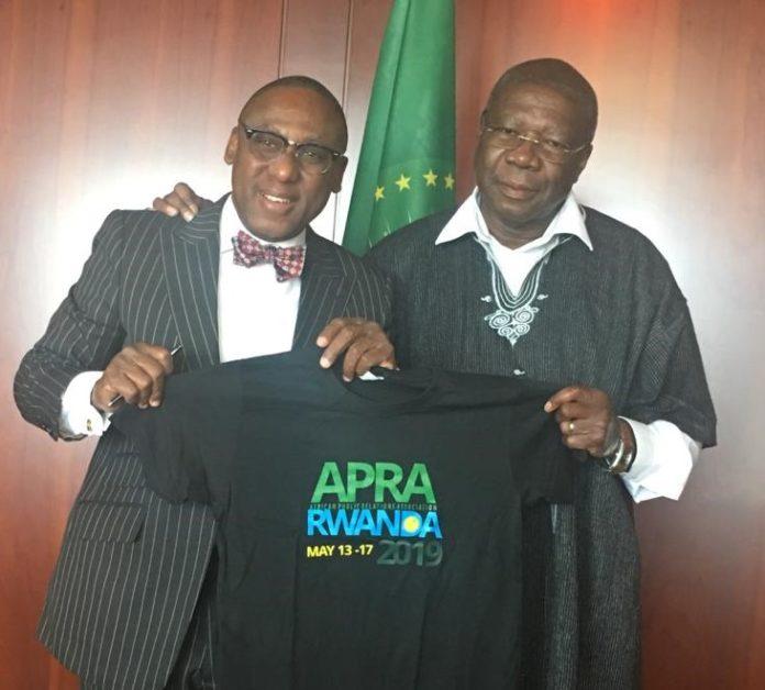 President of APRA, Yomi Badejo-Okusanya and Deputy Chairman AUC Mr Quartey