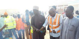 NEMA Officials in IDPs Camp