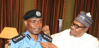 IGP Abubakar Adamu with President Buhari