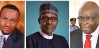 Justice Danladi of CCT, President Buhari and Justice Onnoghen
