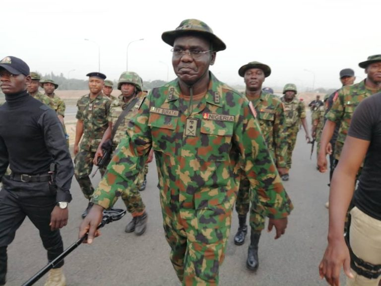 Army Chief Celebrates Sallah with Recuperating Troops in Medical Centre