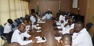 NAF Air Officers at meeting with CAS