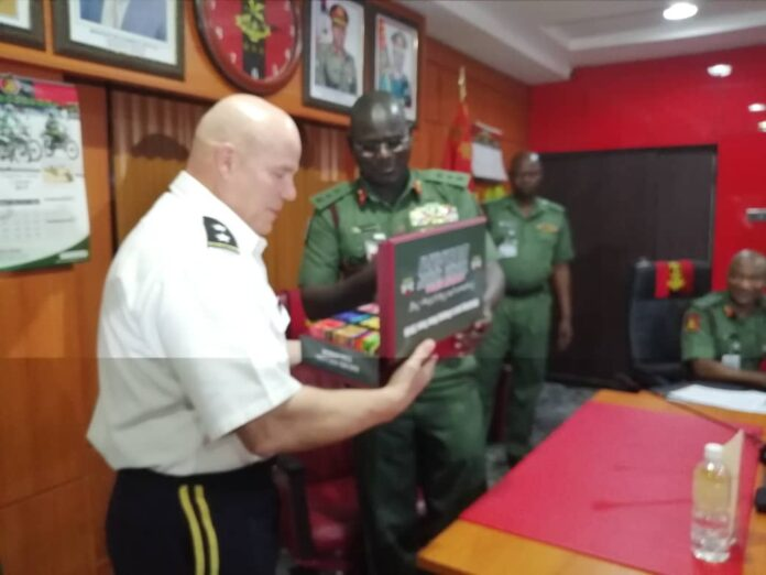 Commander USARAF, General Roger Cloutier with Nigeria's Army Chief General Buratai