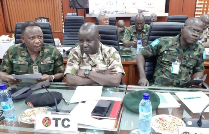 Army General Officers Commanding at a meeting