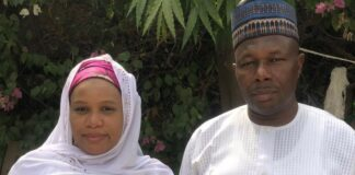 Mrs Habibat and her father, Mallam Sule Uba Gaya of NGE