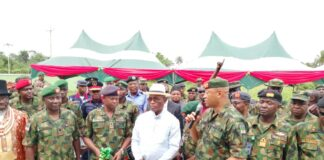 Nigerian Army Projects Commissioned in Bayelsa