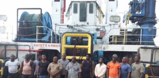 Suspects on Oil Bunkering Vessel