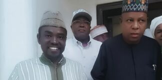 Governor Kashim Shettima with Yushau A. Shuaib