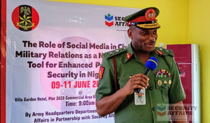 How Social Media Can Foster Peace, Curb Insecurity- Chief of Civil-Military Relations