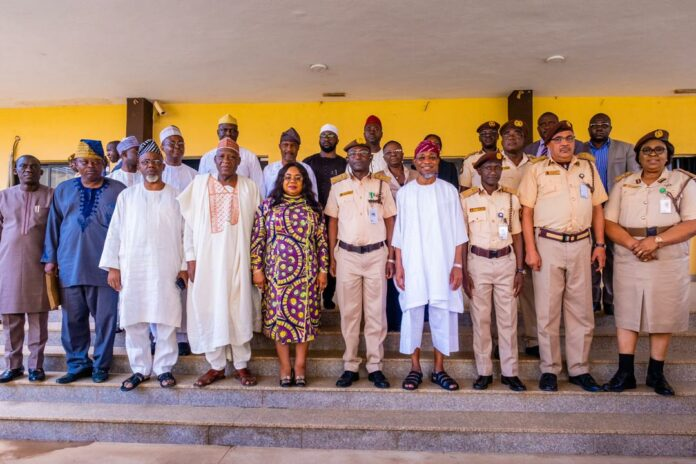 Rauf Aregbesola and Chief of Interior Services