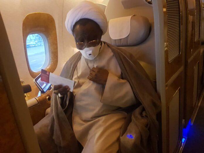 Sheikh zakzaky in plane to India
