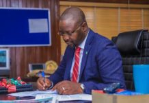 Minister of Youths and Sports, Sunday Akin Dare