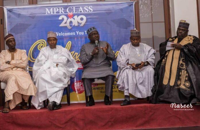 Mal Aminu Hamza, Prof Umar Pate, Mr. Mukhtar Surajo, Brigadier General Sani Kukasheka and ACP Baba Mohammed at MPR BUK Dinner in Kano