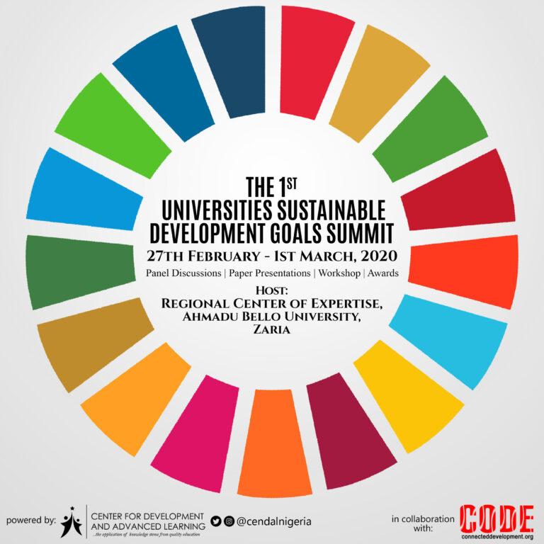 CENDAL Nigeria Hosts Universities SDGs Summit in ABU Zaria