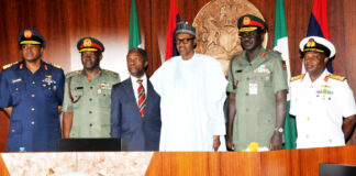 President Buhari and former Service Chiefs
