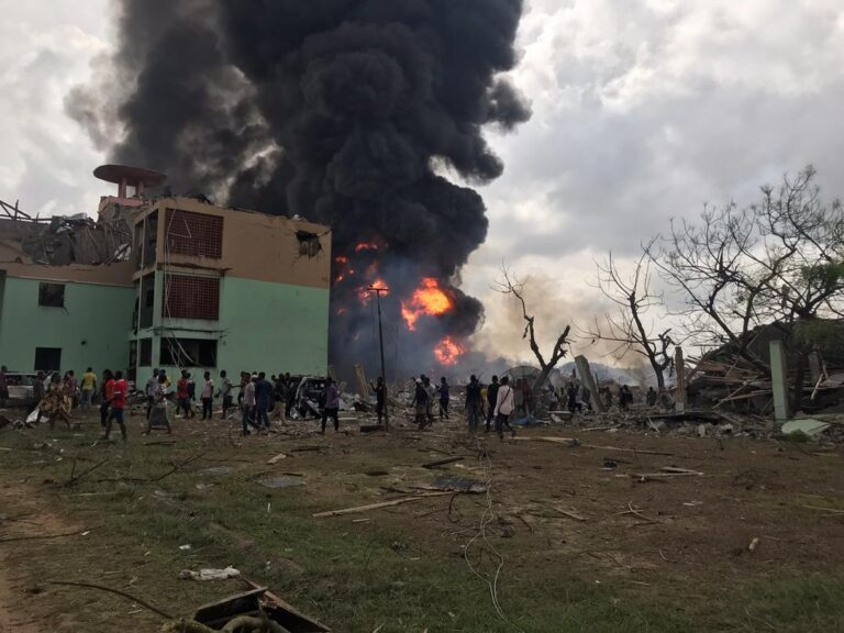 Pipeline Explosion Affects Navy Hospital in Lagos