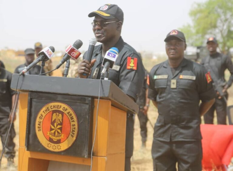 War-on-Terror: Finally, Gen Buratai Delivers a Powerful Speech to Troops in North-East