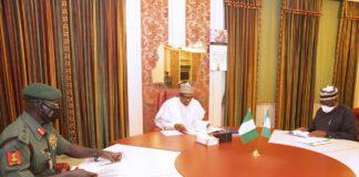 ExArmy Chief Buratai, Buhari Gambari