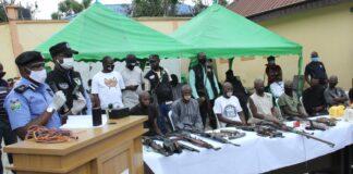 Police Spokesperson, frank Mba parades criminal suspects