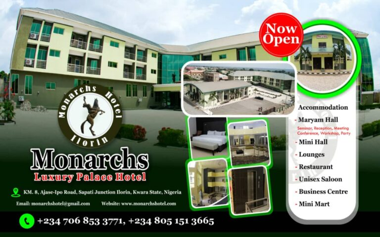 Monarchs Hotel Opens in Ilorin With Assurances of Unrivalled Hospitality