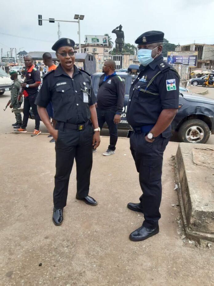 Police on patrol in Anambra