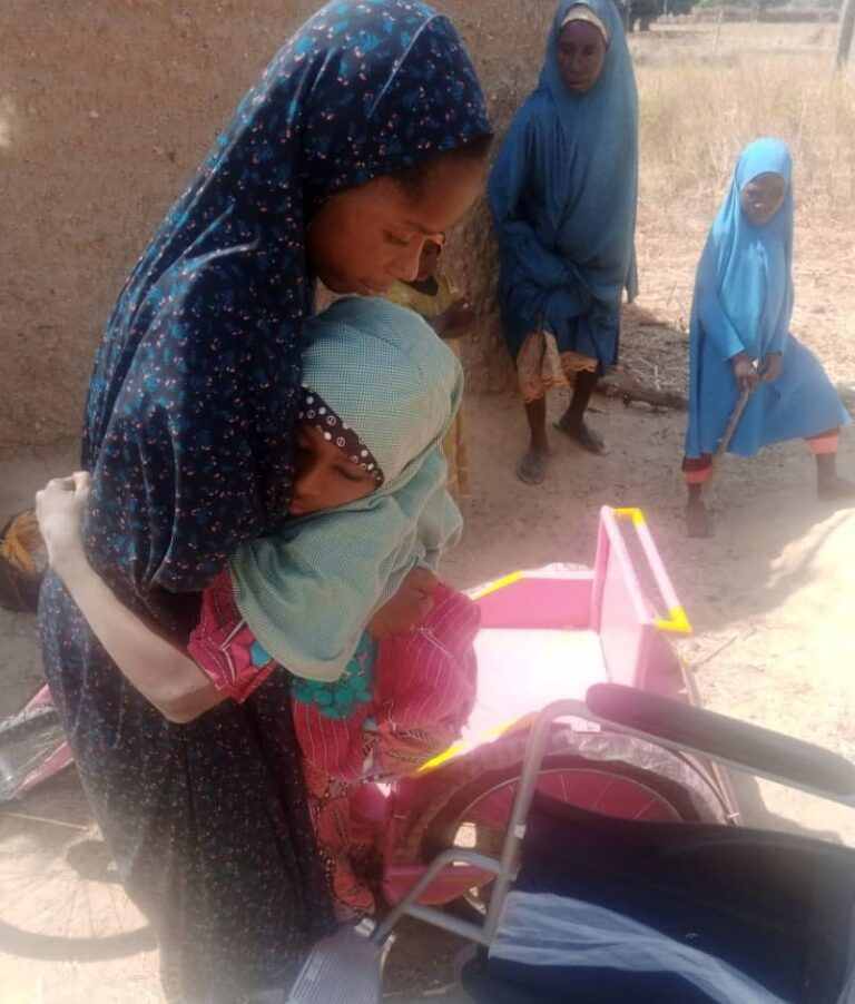UNICEF, Penlight Centre Respond to Plight of Disabled School Girl Fatima with Wheelchairs, Scholarship