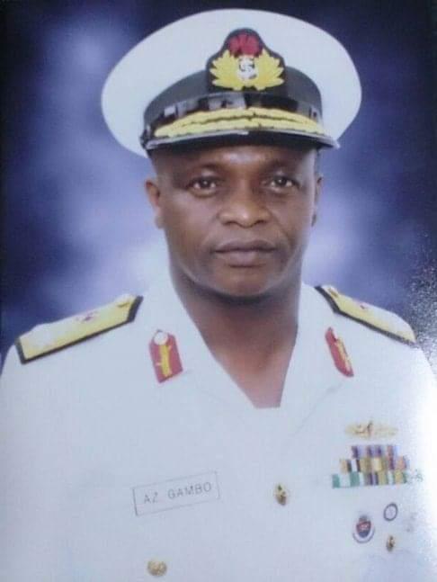 Naval Chief, Rear Admiral Gambo
