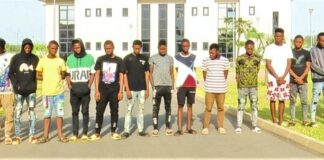 Internet fraudsters paraded by EFCC