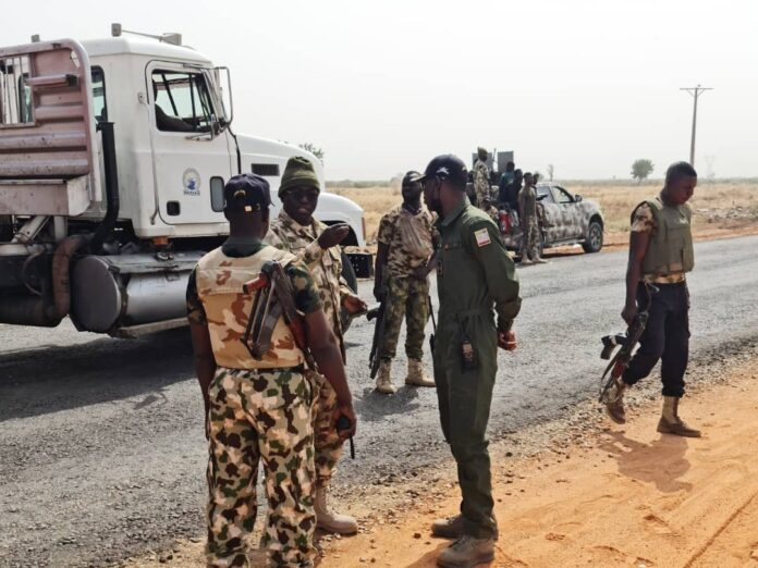 Nigerian Troops at Auno Axis