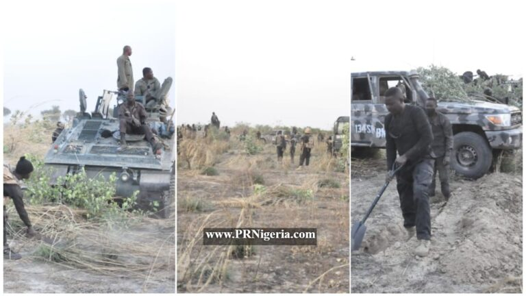 PHOTOS: Troops Clear Corpses of ISWAP Terrorists in Marte Communities