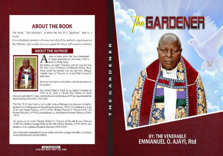 "Fiery Anglican Priest, Ajayi, launches memoir, ""The Gardener"""