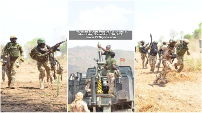 Nigerian Troops pursue terrorists at Mandara Mountains