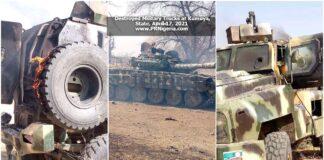 Trucks at Kumuya Military Base April 2021