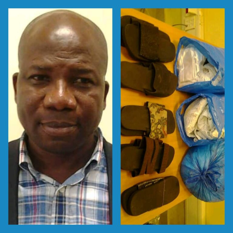 NDLEA Nabs Lagos Politician with Cocaine Concealed in Slippers