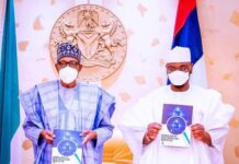 President Muhammadu Buhari and Dr Isa Pantami