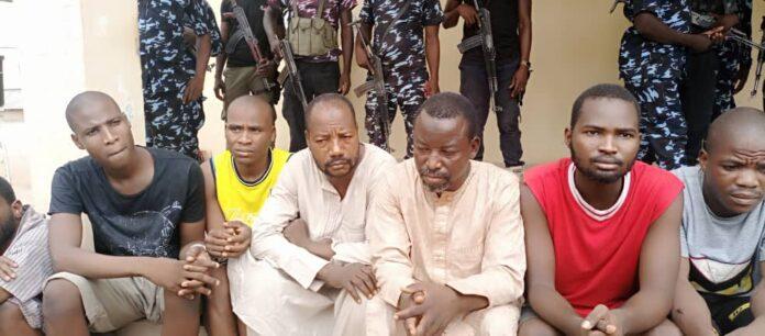 Suspects paraded in Borno