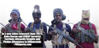 ISWAP Boko Hartam Terrorists June 2021