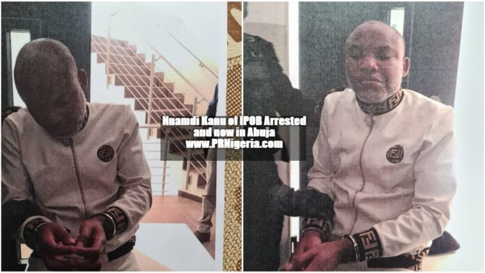 Nnamdi Kanu of IPOB arrested by Nigerian security services