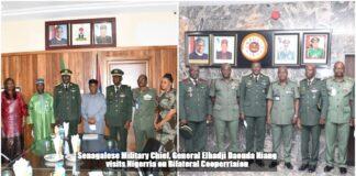 Senegalese Military Chief General Elhadji Daouda Niang in Nigeria