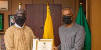 Ambassador Tukuru Buratai with Foreign Affairs Minister Geoffrey Onyeama