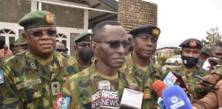 CDS Gen Lucky Irabor Irabor, CDI Gen Samuel Adebayo with others