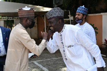 Yushau Shuaib receives DG NITDA, Mr Kashifu Inuwa at PRNigeria Centre Abuja