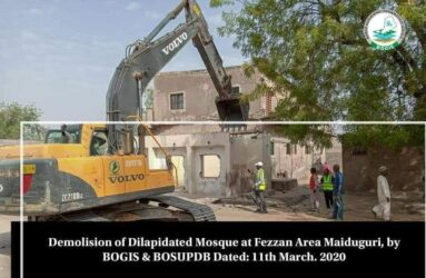A mosque Demolished in March 2021