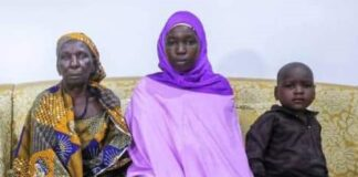 Chibok Girl and Child Meet Mother
