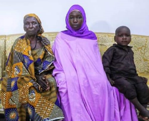 After PRNigeria Report, Chibok Girl with her Children Reunite with Family